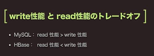 write性能とread性能のトレードオフ