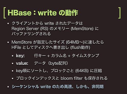 HBase:Writeの動作